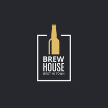 Beer Bottle Logo. Brew House I...