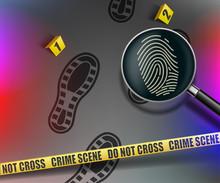 Crime Scene. Magnifying Glass...