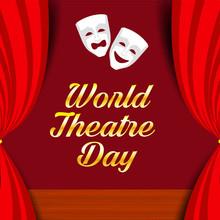 World Theatre Day Logo Icon Design, Vector Illustration - Vector