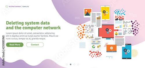 Fotografie, Obraz  Deleting system data and computer network