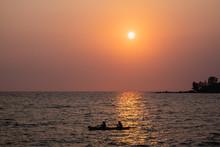 Silhouette Of A Couple On Kaya...