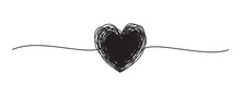 Tangled Grungy Black Heart Scr...