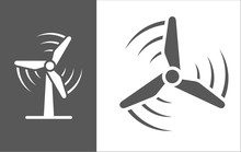 Wind Turbine Vector Icon