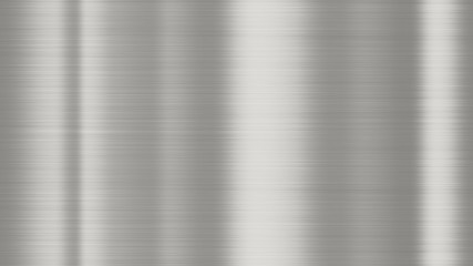 Shiny brushed metal background texture. Polished metallic steel plate. Sheet metal glossy shiny silver
