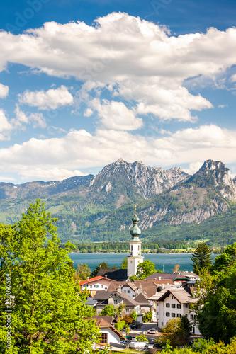 krajobraz w pobliżu St. Gilgen, Austria