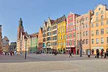 Old Market Square In Wroclaw, Poland