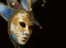 Carnival Venetian Mask On Blac...