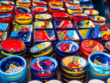 Pottery Shop In Mijas In The Mountains Above The Costa Del Sol In Spain