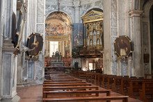Milan, Italy - January 16, 2019 : Interior Of Santa Maria Della Passione Church