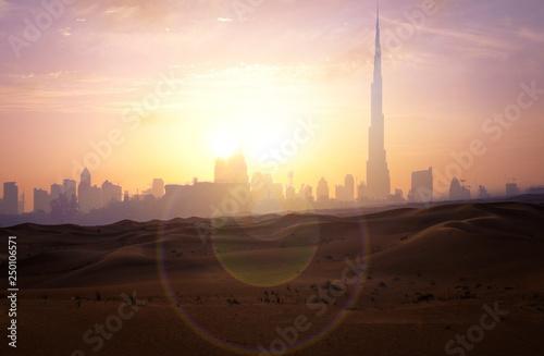 Fotobehang Dubai Desert view Dubai