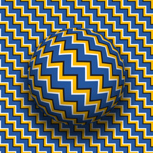 Rotating Sphere Of Zigzag Stri...