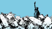 Illustration Of A Garbage Moun...