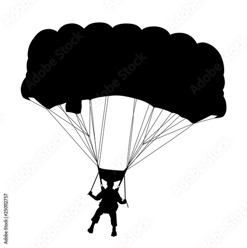 Fotografia Skydiver flying with parachute