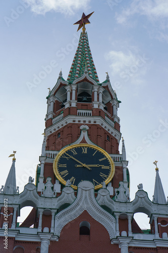 Photo  Moscow Bells at the sunny winter day. Spasskaya tower image