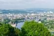 Deutsches Eck Koblenz von oben