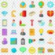 Internet marketing icons set. Cartoon style of 36 internet marketing vector icons for web for any design