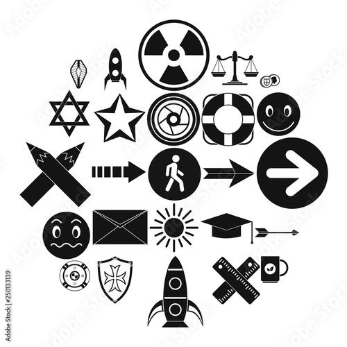 Fotografie, Obraz  Ideograph icons set