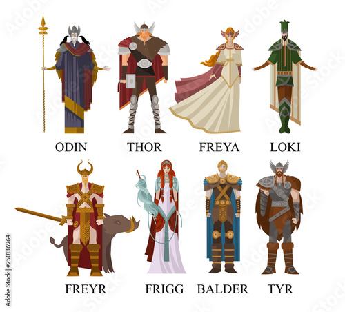 norse nordic mythology gods Wallpaper Mural