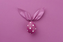 Purple Dotted Easter Egg With ...
