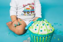 Baby Boy Turns One Year Old, Birthday Cake.