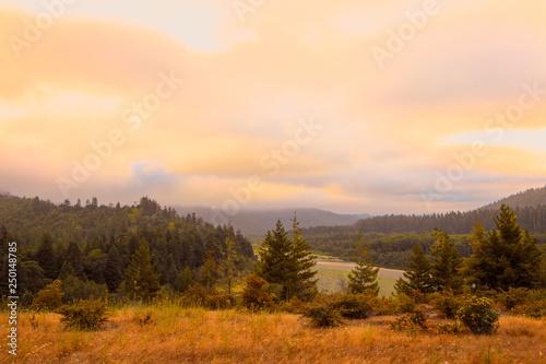 Golden Hour Mountain Vista #250148785