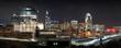 Panorama of Raleigh skyline at night