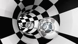 Fototapeta Do przedpokoju - Tunnel Crystal Sphere