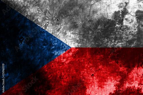 Fotografie, Obraz  Old Czech Republic grunge background flag