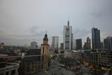 Frankfurt Skyline from Building Balcony