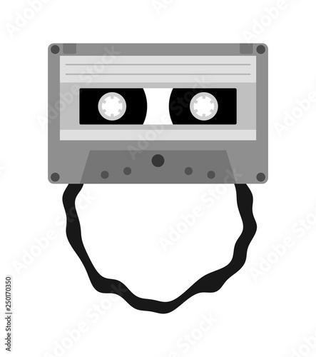 伸びたカセットテープ Adobe Stock でこのストックイラストを購入して