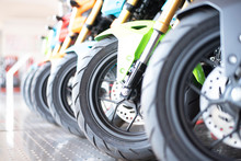 Motorcycle Business, Background, Motorcycle Showroom, Blurry Abstract, Blurred Background And Can Be An Illustration Of Motorcycle Parking Articles