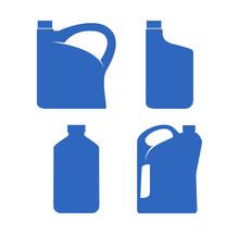 Plastic Canisters Blue Set. Ic...