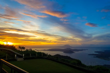 Taal Volcano Sunset From Vacat...