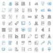 pen icons set