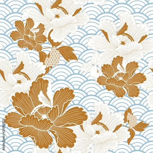 streszczenie-tlo-baner-piekne-bloom-kwiat-kwiaty-oddzial-karta-uroczystosci-wisnia-chinski-ladny-dzien-ozdoba-kwiatu-kwiat-ramki-zlota-grafika-ikona-ilustracja-japane
