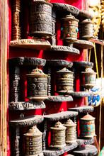 Prayer Wheels In Kathmandu Tem...