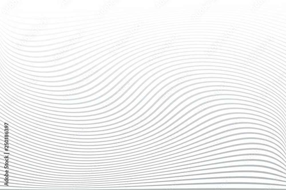 Fototapety, obrazy: White textured background. Wavy lines texture.