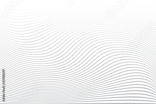 White textured background. Wavy lines texture. Fototapete