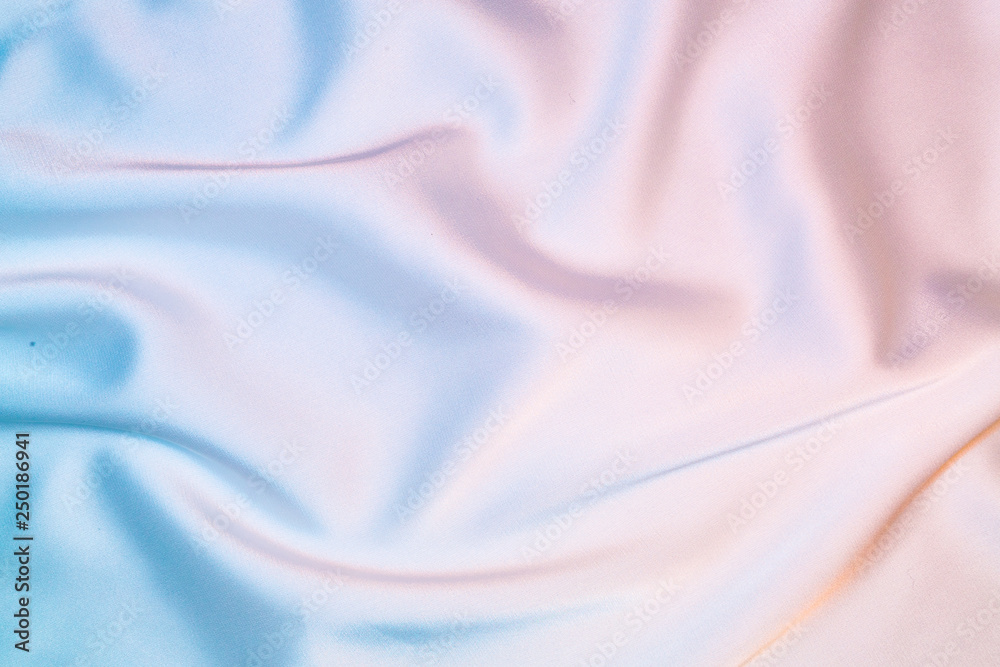 Fototapety, obrazy: Silk shiny fabric texture in pastel iridescent holographic colors