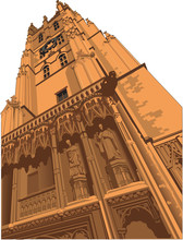 Canterbury Cathedral Vector Il...
