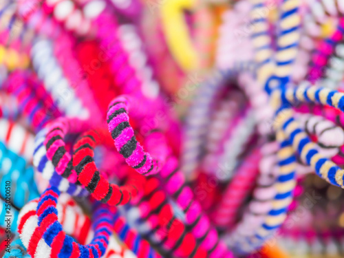 Photo  Abstract colorful blurry curved pattern and background.
