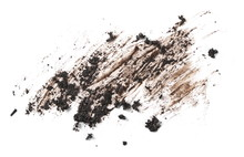 Wet Dirt, Mud Texture Isolated On White Background, Top View