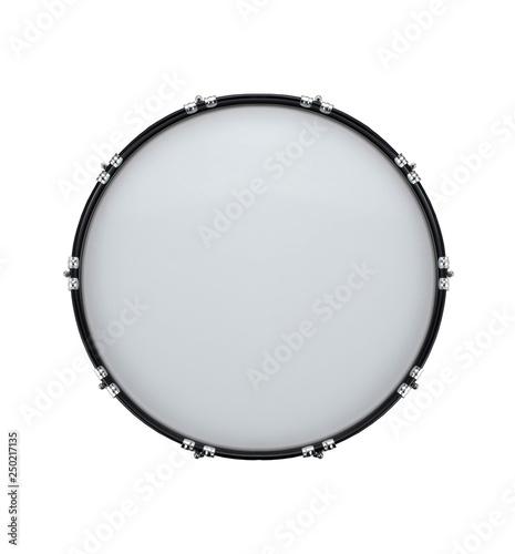 Canvastavla  bass drum isolated on white