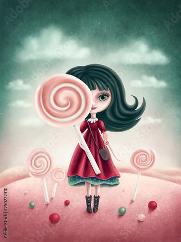 Fantasy girl Fototapet