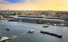 Amsterdam Cityscape Top View A...