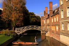 The Mathematical Bridge - Punting In Cambridge