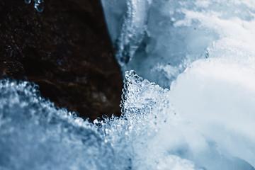 little ice bubbles