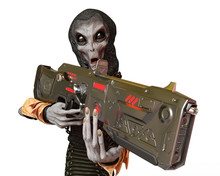Grey Alien From The Darkness