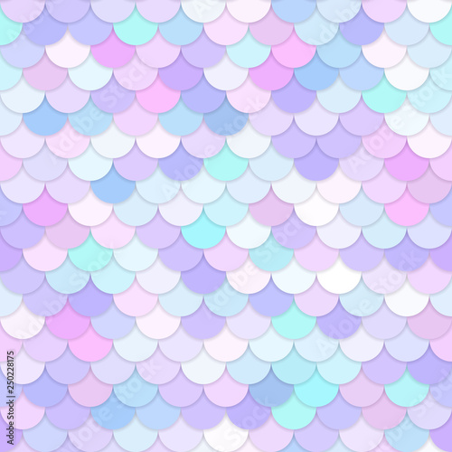 fototapeta na lodówkę Multicolor backdrop with rainbow scales. Kawaii mermaid princess pattern. Sea fantasy invitation for girlie party.