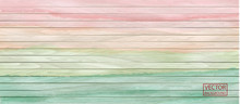 Colorful Vector Wood Header In Watercolor Style On Rainbow Background. Background, Horizontal Banner. Vector Abstract Graphic Design. Rainbow Color. Flag Banner Design. Vintage Timber Texture